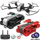4K Mini Drone Selfie WIFI FPV With HD Dual Camera Foldable Arm RC Quadcopter