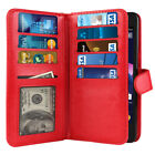 For ZTE Obsidian Z820 Flap Card Slot PU Leather Magnetic Wallet Cover Case Pouch