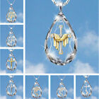 Fashion Cross 925 Silver Gold Necklace Pendant White Sapphire Jewelry Gift