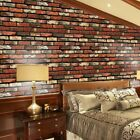 3d Diy Wall Stickers Self-adhesive Pvc Brick Stone Decal Home Decor 45 X 100cm