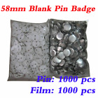 1000pcs 58mm Blank Pin Badge Button Supplies for Badge Maker Machine