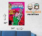 Marvel Secret Wars #12 1984 Cover Wall Poster Multiple Sizes 11x17-24x36