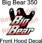 Yamaha Big Bear 4x4 2x4 350 Oem Front Hood Decal Graphic Sticker Plastic
