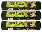 Dog Poo Bags Extra Large Double Thick Dog Poop Tie Handles Doggy Bags 1-300