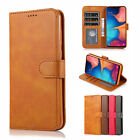 For Samsung Galaxy A10E Case, Stand Leather Wallet + Tempered Glass Protector