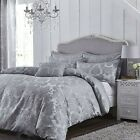 Catherine Lansfield Damask Silver Jacquard Duvet Cover Set