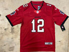 NWT Tom Brady Tampa Bay Buccaneers #12 Men's Sewn Red Jersey