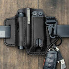 EDC Leather Sheath For Knife Belt Flashlight Holster Multitools Organizer USA