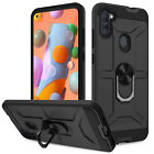 For Samsung Galaxy A11 A21 Shockproof Ring Stand Case Cover / Screen Protector