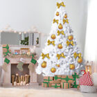 '5/6ft Artificial Christmas Tree White Flocking With Metal Stand Festive Decor
