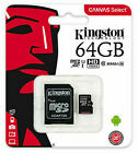 Kingston-16GB-32GB-64GB-Micro-SD-TF-Class-10-Card-New-With-SD-Adapter-USA