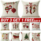 Christmas Santa Snowman Cushion Cover Cartoon Pillow Case Home Sofa Xmas Decor