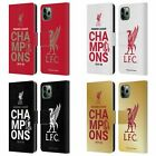 LIVERPOOL FC LFC 2020 CHAMPIONS PU LEATHER BOOK CASE FOR APPLE iPHONE PHONES
