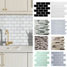 Self-Adhesive Kitchen Wall Tiles Bathroom Mosaic Brick Sticker Peel & Stick UK