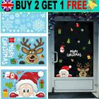 Christmas Xmas Santa Removable Window Stickers Art Decal Wall Home Shop Decors