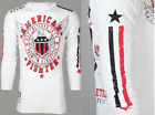 American Fighter Mens L/S T-Shirt EXCELSIOR Athletic WHITE Gym S-3XL $54