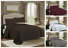 Embossed Reversible 3 Piece Bed spread Coverlet Quilt Bedding Set  Pillow Cases