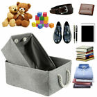 Large Collapsible Fabric Storage Basket Under Bed Bag Box Clothes Organizer Cube