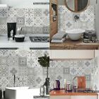 24pcs Mosaic Kitchen Tile Stickers Bathroom Self-adhesive Wall Decor Home Diy Uk