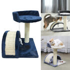 3 Color Cat Tree Scratching Post Scratcher Activity Play Centre Kitten Toys UK