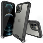 For iPhone 12/12 Pro Max Shockproof Clear Case + Tempered Glass Screen Protector