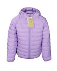 NEW M*S Girls Kids Lilac Purple Zipped Padded Hooded Stormwear Warm Jacket Coat