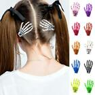 Halloween Party Zombie Skull Skeleton Hand Bone Claw Punk Hairpin Hair Clip O9n2