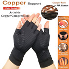 2pcs Copper Compression Arthritis Gloves Carpal Tunnel Joint Pain Relief Hand US