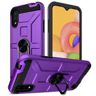 For Samsung Galaxy A01 A11 A21 Shockproof Ring Kickstand Case / Screen Protector