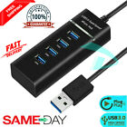 High Speed 4 Port USB HUB 3.0 & 2.0Multi Splitter Expansion Desktop PC Laptop UK