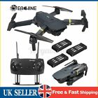 Eachine E58 WIFI FPV 2MP/0.3MP Camera Foldable RC Drone Quadcopter 1/2/3  √ UK