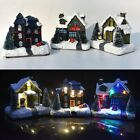 LED Christmas House Village Scene Light Up Decoration Battery Indoor Ornament Ri