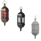 Vintage Beautiful Lantern Candle Holder Tea Light Moroccan Home Decor Crystal