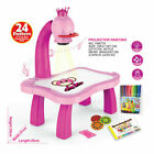 Kids Magnetic Plastic Drawing Board Projector Painting Tool Educational E2D6
