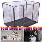 Dog Cage Pet Puppy Crate Carrier Home Folding Door Training Kennel UK S M L XL