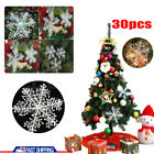 30pcs Christmas White Snowflake Xmas Trees Hang Pendant Ornaments Decoration