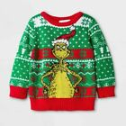 The Grinch UGLY HOLIDAY CHRISTMAS SWEATER INFANT BABY NB, 0-3M New