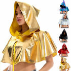 Hooded Cloak Cape Capes Costume Cosplay Steampunk Women Ladies Medieval