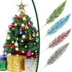 Large Glittered Spiky Feather Leaf - Glittery Flowers Fake Home New Decor H7u5