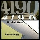 "Brushed Metal or White 24""x16"" OR 12""x8"" Sign Numbers CNC Cut Weatherproof ACM"