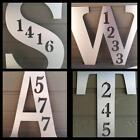 "BRUSHED METAL or White 23""x16"" Letter with Address Numbers Weatherproof ACM"