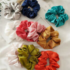 Popular Satin Silk Solid Hair Tie Elastic Scrunchie Ponytail Holder Hair Rope