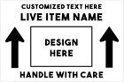 """LIVE PLANTS HANDLE WITH CARE - 100 Shipping Stickers 4x6"""" - Direct Thermal Label"""