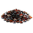 """1/2"""" Copper Fire Glass Beads Rocks Round For Fireplace Fire Pit 10/20/30/40/50lb"""