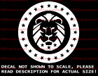 Round Patriot Party Lion Head Decal Made in the USA US Seller KAG MAGA