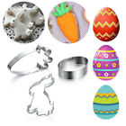 Stainless Steel Egg Easter Rabbit Biscuit Mould Easter Cookies Cutter Cake Mold