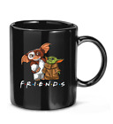 Gremlins and Baby #Yoda #Mandalorian friends tv show moive Baby #Yoda Coffee Mug