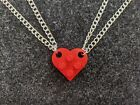 BrickCrafts Basic BFF His/Hers Half-Heart Pendant Necklaces Set of 2