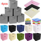 Foldable Fabric Storage Boxes for Clothes Baskets Home Organizer Cube Bins Cubby