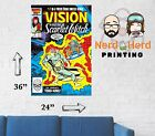 Vision and Scarlet Witch #7 1985 Marvel Comic Cover Wall Poster